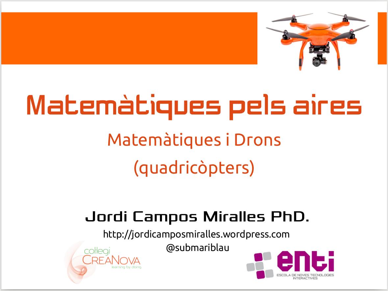 Material per treballar Matemàtiques i Drons