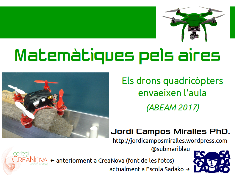 Xerrada ABEAM'17: Drons a l'aula, emocionant!